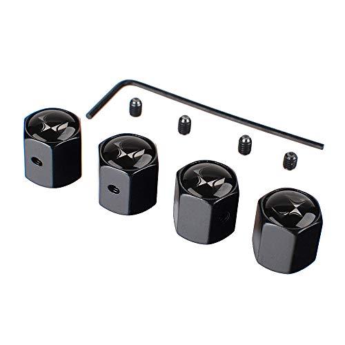 4 Piezas Tapas para Válvulas de Neumáticos para Citroen DS3 DS4 DS5 DS6 Berlingo C3 C4 Xsara Picasso Cactus con logotipo, con chiave a L, Tapa de Válvula de Neumático Tapa Anti-Polvo de Rueda de Coche