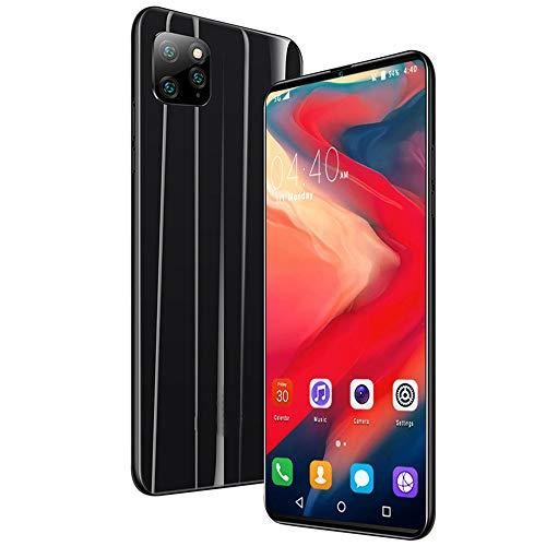 Moviles Libres 3G 6.1 Pulgadas Android 9.0 Tres Cámaras Traseras 8MP Cámara Frontal 5MP 1GB RAM 18GB ROM /128GB Memoria Expandida Telefono movil 4800mAh Móviles y Smartphone Libres,Black