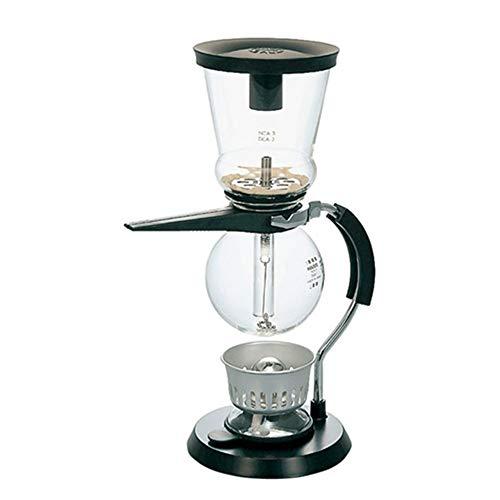 LULUVicky-Home Cafetière pour Espresso Sifone Pot Siphon Coffee Pot Set Domestique en Verre Coffee Pot Café à la Maison Appliances Famille Essentials 23x14x34cm Noir