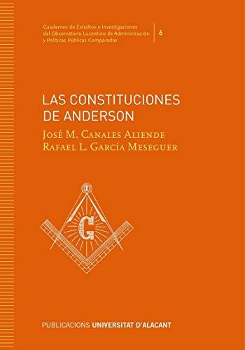LAS CONSTITUCIONES DE ANDERSON (Cuadernos de Estudios e