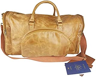 Genuine Real Leather Travel Duffel Bag Large Tote Gym Overnight Weekend Handbag