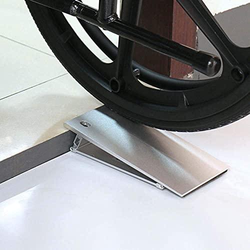 ACUIPP 2 Veces; Rampa de Umbral de Transición para Silla de Ruedas, Andador con Andador, Rampas de Acera Plegables de Aluminio, Altura Ajustable 4-5 Cm, para Escalones de Entrada