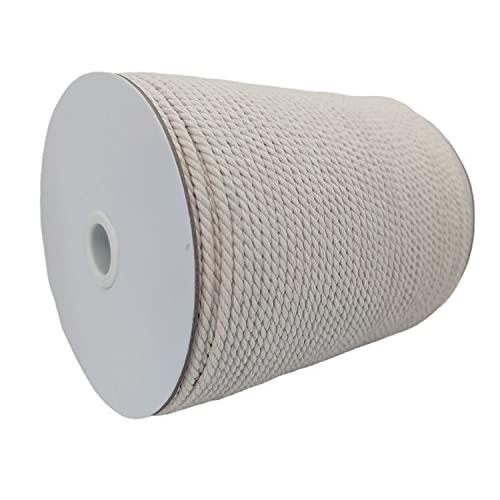 cutieyan,3 Strand Twisted Macrame Cord 4mm x 200yd,Pure Natural Cotton...