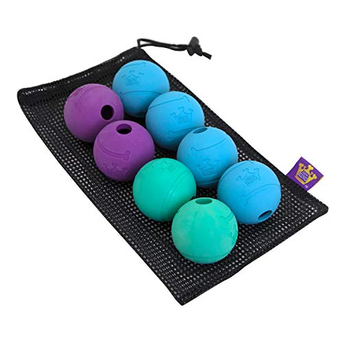Chew King Fetch Balls Extremely Durable Natural Rubber Toy 2.5 inch, 8-pack (CM-0264-CS01)