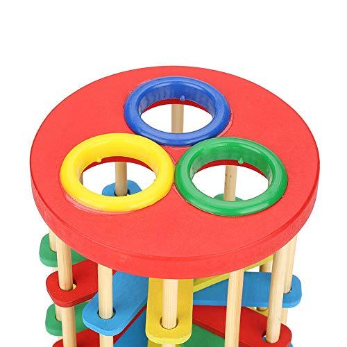 Juguete de madera para niños, regalo preescolar seguro, juguete de madera no tóxico, regalo colorido para el hogar