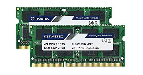 Timetec Hynix IC 8GB キット (2x4GB) ノートPC用メモリ DDR3 1333 MHz PC3 10600 1.5 v 204 Pin SODIMM 8 GB キット (2x4GB)