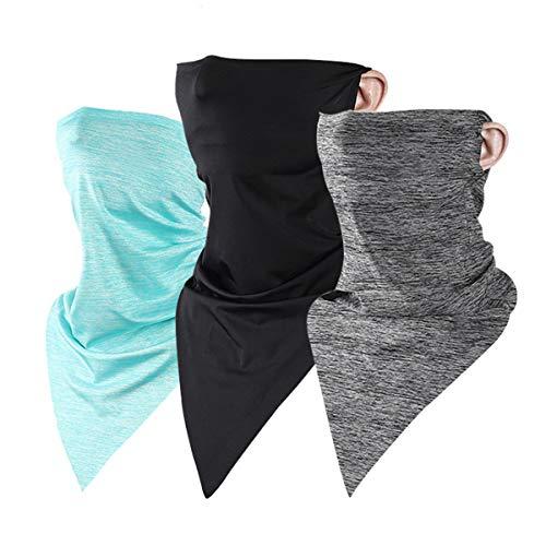 Hivool multifunctioneel 50+ UV-bescherming gezichtsmasker, ijs zijde zonbescherming driehoek handdoek gezichtsbedekking zonnebrandcrème sjaal met oorlussen