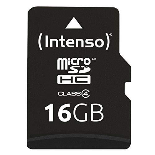 Intenso Micro SDHC 16GB Class 4 Speicherkarte inkl. SD-Adapter