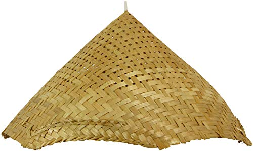 Guru-Shop Deckenlampe/Deckenleuchte, in Bali Handgemacht aus Naturmaterial, Bambus - Modell Rice Field, Holz, 20x41x38 cm, Hängeleuchten aus Natürlichen Materialien