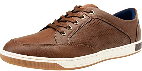 JOUSEN Men's Sneakers Classic Retro Casual Shoes for Men Breathable Business Dress Sneaker (A81Q07 Dark Brown 11)