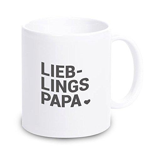 4you Design Tasse Lieblingspapa, Kaffeetasse, Kaffeebecher, Geschenkidee, Geschenk zum Vatertag, Geburtstagsgeschenk, Dankeschön-Geschenk
