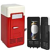 DSMGLRBGZ Frigorifero, Frigorifero Piccolo Desktop 5V USB Mini Auto Frigorifero per Raffreddare Famiglia Ufficio Congelatore Cura della Pelle,B
