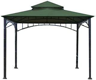 Garden Winds Replacement Canopy for Summer Veranda Gazebo Models L-GZ093PST, G-GZ093PST, (WILL NOT FIT ANY OTHER FRAME), Green Spruce