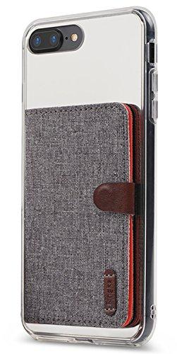 Ringke Flip Card Holder Porta Carte Adesivo Portafoglio Compatibile con Custodie per iPhone, Galaxy, Xiaomi, Huawei - Gray