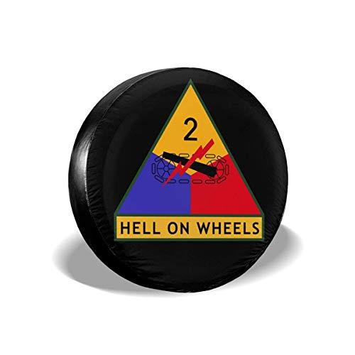 Hokdny Cubierta DE LA Rueda 2.a División Blindada del Ejército de EE. UU. Universal Wheel Trims Accessories for Vehicles, Trailers, Motorhomes, SUV