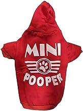 Pets Empire Mini Pooper Dog Coats Chihuahua Clothes Sweatshirt Pet Puppy Cat Jacket (14 Inch, Red)