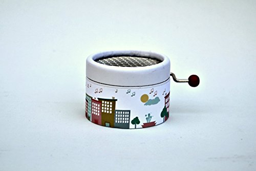 """Little hand cranked music box""""City of music"""" with the song La Vie en Rose"""
