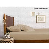 1000 Thread Count 100% Egyptian Cotton Fitted Sheet (Twin, Sand)