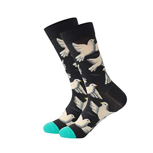 WLQXDD Spezielle Geschenksocken Männer & Frauen Baumwolle Cartoon Tiere Krokodil Hund Schaf Hai Socken Herrenmode Winter Trends Crew Socken