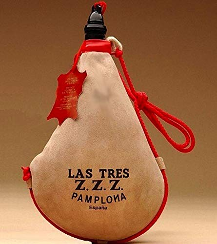 Las Tres Z.Z.Z. Bota de Vino Recta de látex - 2 litros