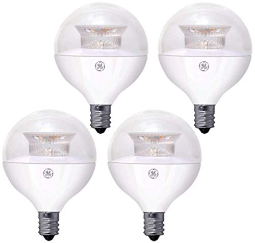 GE 60-Watt Equivalent Dimmable Globe LED Bulb, 500 Lumens, E12 Base, 2700 Kelvin, 4-Pack