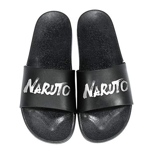 OUGEA Naruto Hausschuhe Naruto Sasuke Carti Mode Herren Zweiter Yuan wasserdichte Tierhausschuhe-Schwarze Nudeln - Naruto_37.