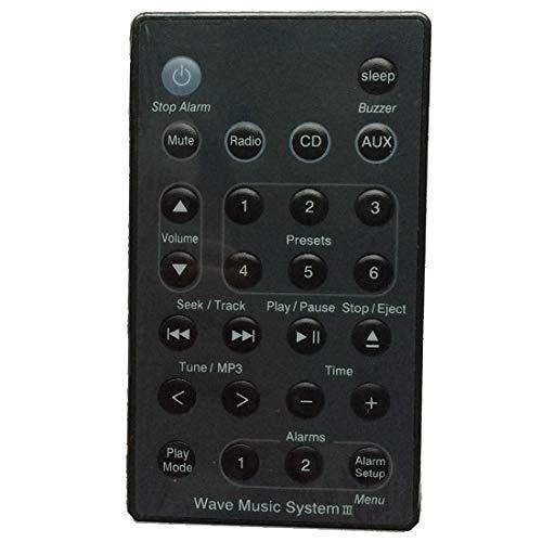 Ochoos Fernbedienung für Bose Wave Radio/CD Music System AWRC-C1 AWRC-C2 AWRC-C3 Schwarz
