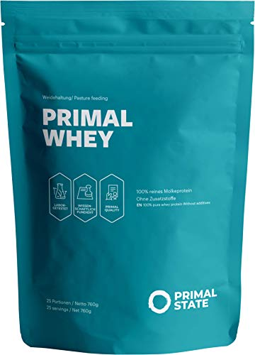 Protein Powder Neutral | Primal WHEY Protein Powder | 100% Premium Whey Protein from Irish Pasture-Raised and Grass-Fed Cows | Low Carb Protein for The Maintenance & Increase of Muscle Mass | 760g