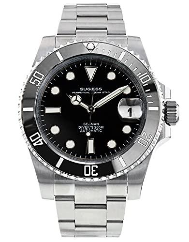 Ocean Star 200M resistencia al agua 316L acero inoxidable bisel de cerámica NH35A automático mecánico buceador reloj de los hombres SU116610LN