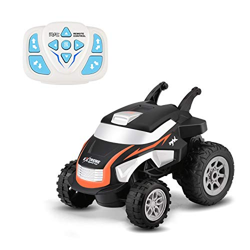 WomToy RC Cars Stunt Car Toy, 2.4Ghz Wireless Watch Remote Control Car, 360 Degree Rotating Tumbling Truck with LED Lights Mini Stunt Vehicle Toys for Boys Girls Birthday Gift