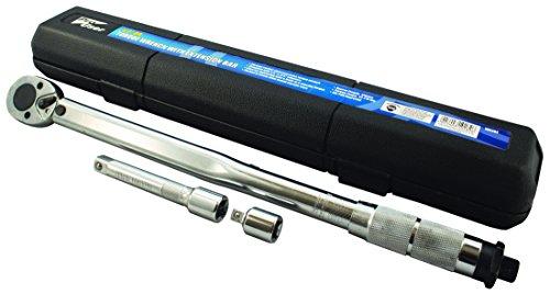 Pro usuario wr302llave dinamométrica con barra de extensión, Plata, 1/2-inch unidad