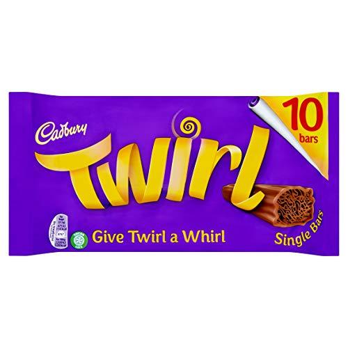 Cadbury Twirl Chocolate Single Bar, Pack of 10