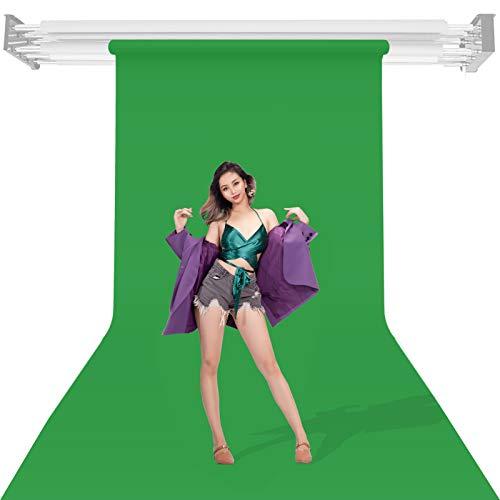 Greenscreen Backdrop Telón de Fondo de Estudio Fotográfico Verde 1,35x10m, Pantalla Croma Verde, Chromakey Green, Pantalla Verde Chroma Paper Background Roll para Animales de Productos de Retrato