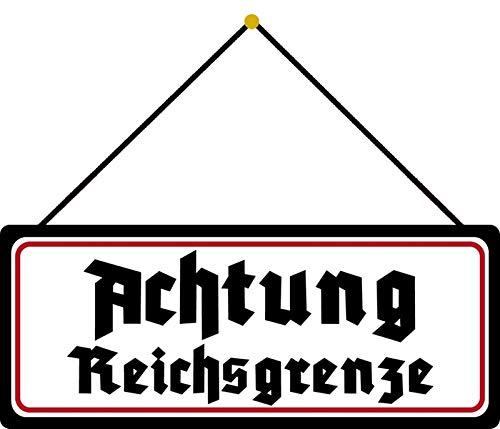 FS - Placa metálica con texto en alemán