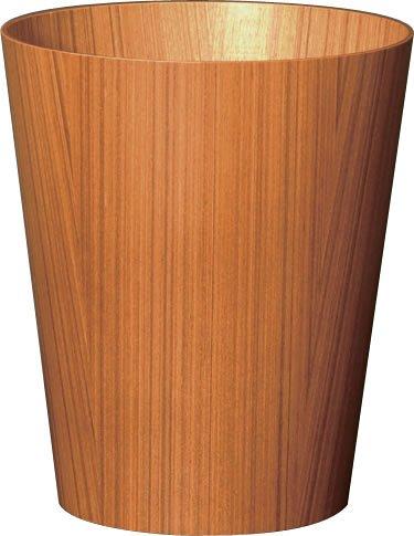 SAITO WOOD ごみ箱 ダストボックス 上開き M 903 10L チークグレイン