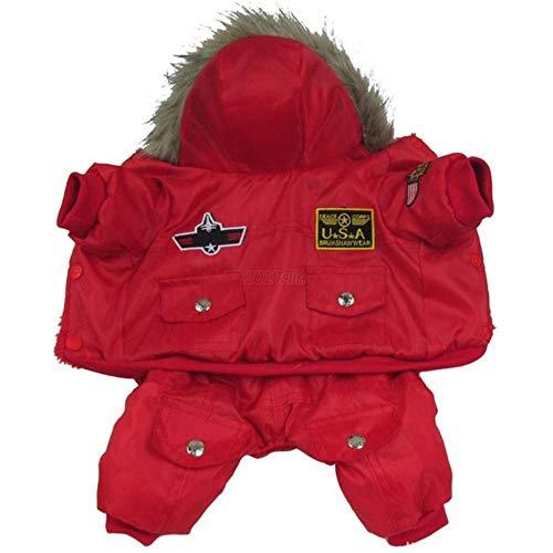Abrigo clido de camuflaje para perro, chaqueta de invierno impermeable para mascotas Chihuahua, perros pequeos, XL, rojo, L.