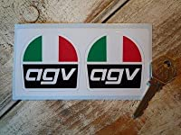 AGV Helmets Tri-Colour Stickers ステッカー デカール シール 2枚セット 海外限定 55mm x 55mm [並行輸入品]