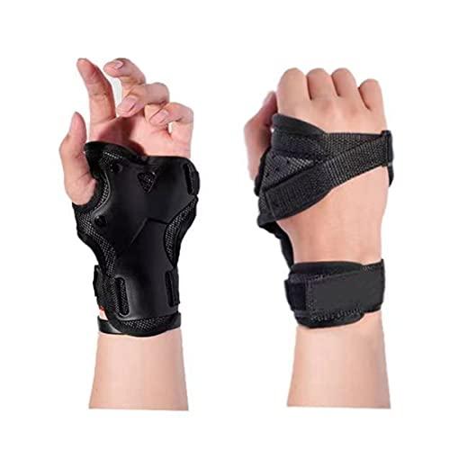 VZF Handgelenkschützer, Skihandschuhe, Verlängerte Handgelenk Palmenschutz, Rollschuhlauf, Harte Stulpen, Einstellbare Skateboardstulpen (S)