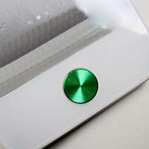 Sdkmah9 Aluminium-Home-Button-Aufkleber für iPhone 4 / 4S / 5, für iTouch / iPad, mehrfarbig, ca. 10,5 mm, Blau, nicht null, grün, Free Size