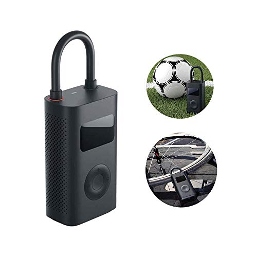 Mi Portabler, elektronischer Luftdruck-Kompressor mit Ventiladapter für Auto, Fahrrad, Motorrad, E-Scooter etc. mit Druckbereich von 0,2 bis 10,3 Bar (20.00mAh), Schwarz - 4