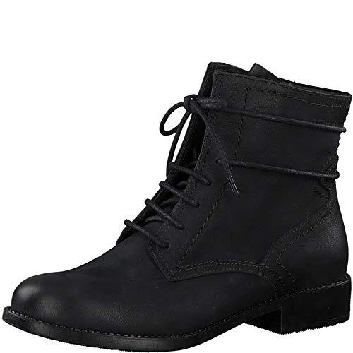 Tamaris Damen Stiefeletten, Frauen Schnürstiefelette, halb-Stiefel schnür-Bootie übergangsschuh weiblich Lady Ladies Women's,Black,39 EU / 5.5 UK