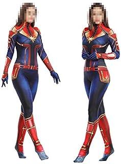 TOYSSKYR Capitán Marvel Cosplay Disfraz Medias corporales