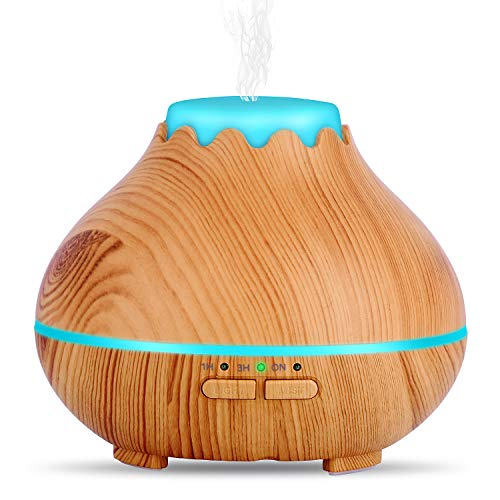 Mini Aroma Essential Oil Diffuser,OliveTech 150ml Ultrasonic Cool Mist Humidifier with Waterless...