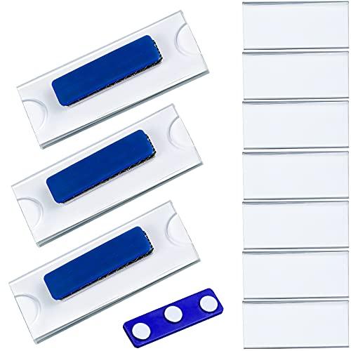 10 Stück Namensschilder Magnetisch Selbstklebend Namensschilder Schilder für Kleidung Ausweishalter Ausweishülle Namensschild mit Magnet