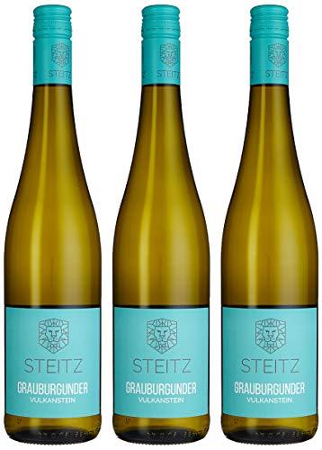 Weingut Steitz Grauer Burgunder trocken Vulkangestein, 3er Pack (3 x 750 ml)