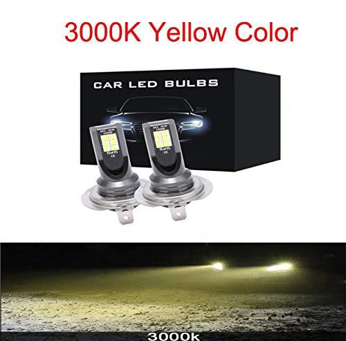 2 unids Mini H4 H7 LED CARIR LUGARIO FOG KIT 6000K 3000K 8000K 72W 12000LM H1 H1 H11 9005 HB3 H8 H9 12000k Bulbos ACCESORIOS DE COCHES (Emitting Color : 3000K, Socket Type : 9005)