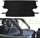 Pandaorv Cubierta protectora de Trunk Cargo Cover, Trasera Trunk Luggage Security Cover Shield para 2007-2018 J-eep Wrangler JK JKU