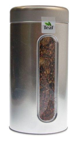 PFEFFERNUSS-ORANGE - Rooibusch-Tee - in Silber Dose rund (Teedose) - Ø 76 mm, Höhe 153 mm (100g)