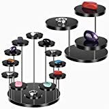 Acrylic Jewelry Stand Jewelry Towers Display Stand Risers Round Ring Display Holder Donuts Trays Small Cupcake Stand Mini Figurines Cake Dessert Rack Serving Platter for Party Wedding Birthday Holiday