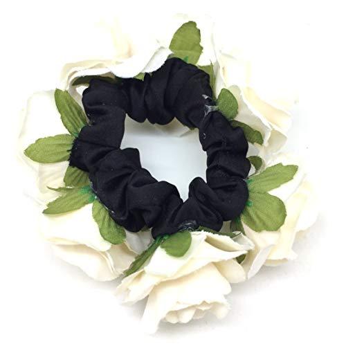 Haarband met stof rozen in beige haarband haaraccessoires